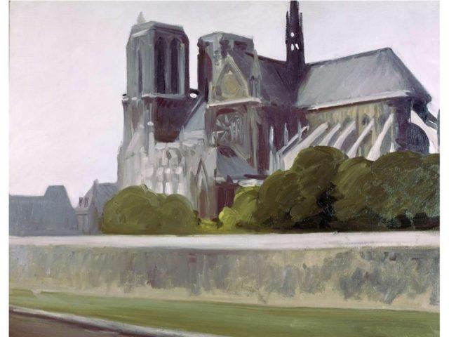 Notre Dame de Paris, Huile sur toile d'Edward Hopper, 1907. Withney Myseum of American Art, New York.