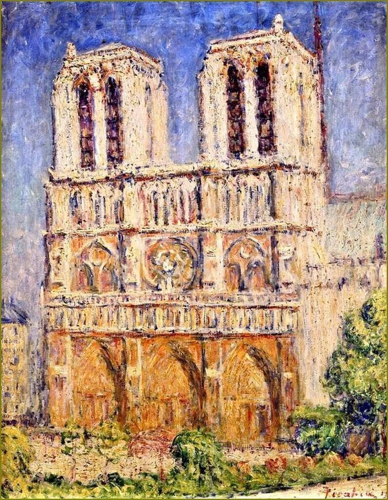 Soleil matinal sur Notre-Dame. Huile sur toile de Francis Picabia, 1906.